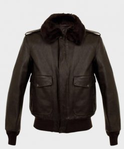 Mens A2 Aviator Brown Bomber Leather Jacket