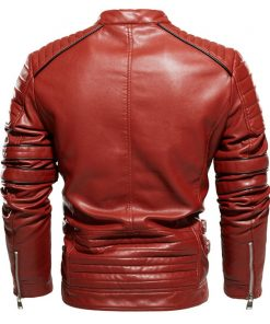 Mens Brown Vintage CafeRacer Leather Jacket