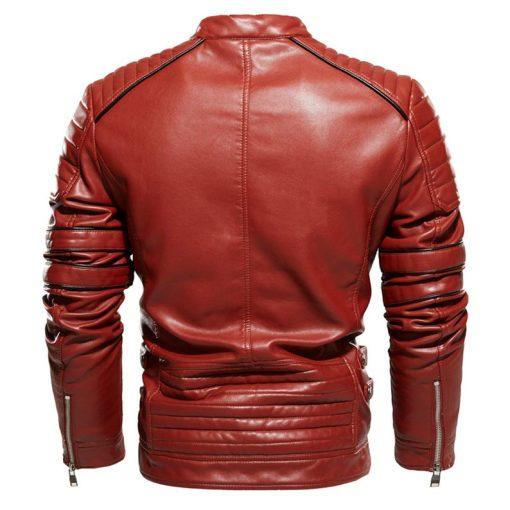 Mens Brown Vintage CafeRacer Leather Jacket