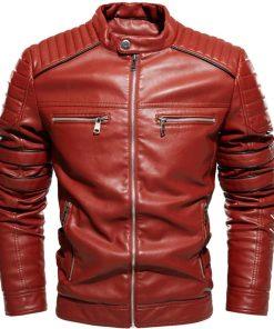 Mens Brown Vintage Leather Jacket