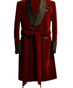 Mens Smoking Velvet Coat