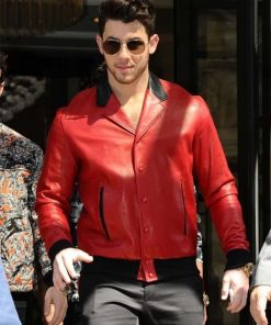 Nick Jonas Red Jacket