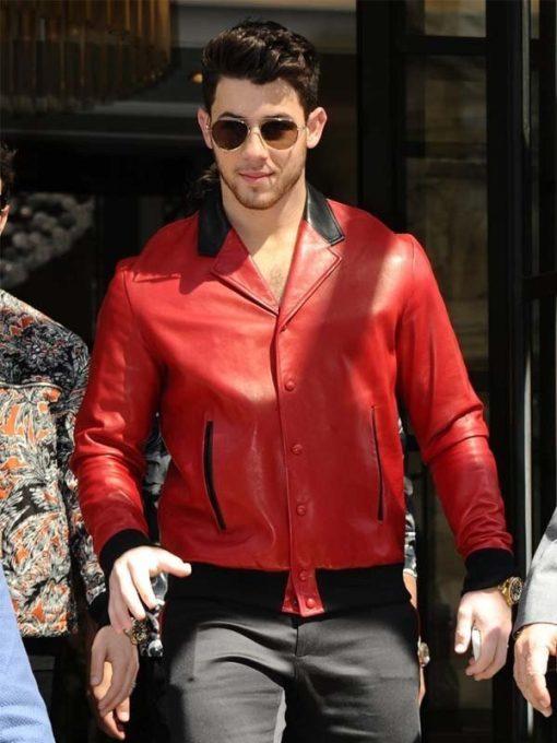 Nick Jonas Red Jacket