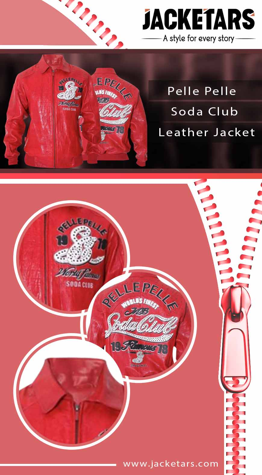 pelle pelle red jacket info