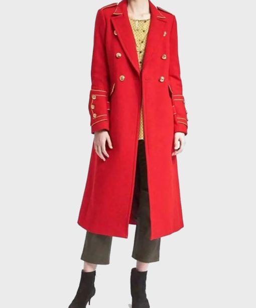 Riverdale Penelope Blossom Red Coat