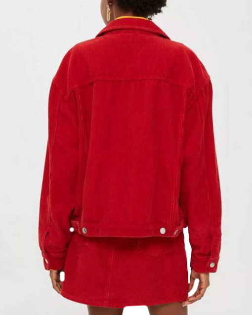 Serena Baker Spinning Out Red Corduroy Jacket