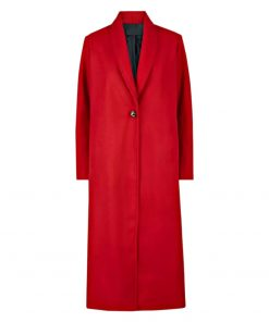 Women Red Long Coat