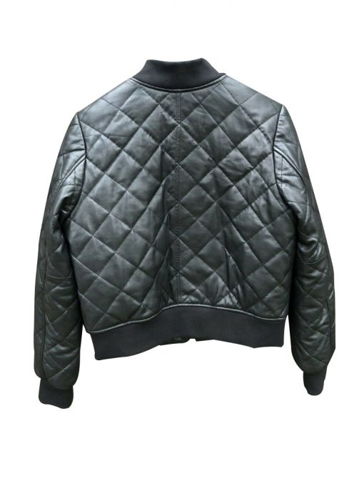 Womens Quilted Black Leather Jacket