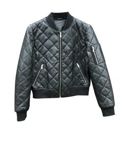 Womens Quilted Leather Jacket