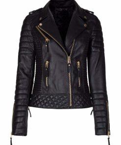 Womens Slim Fit Biker Jacket