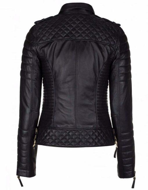 Womens Slim Fit Biker Leather Jacket