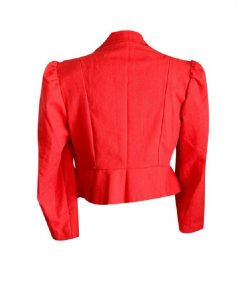 Womens Slimfit Vintage Red Blazer