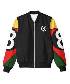8 Ball 90s Black Bomber Jacket