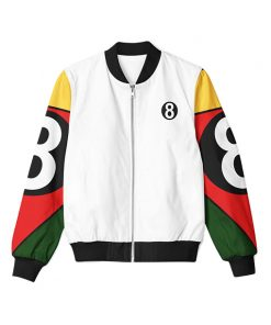 8 Ball 90s White Bomber Jacket