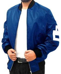 8 Ball Blue Bomber Jacket