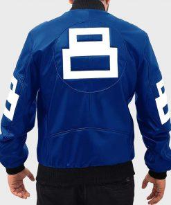 8 Ball Blue Bomber Leather Jacket