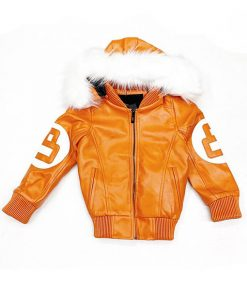 8 Ball Orange Parka Jacket