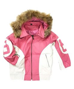 8 Ball Pink Parka Jacket