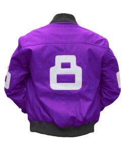 8 Ball Purple Bomber Jacket