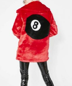8 Ball Red Fur Jacket