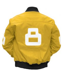 8 Ball Yellow Bomber Jacket