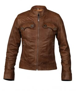 Amy Fleming Brown Leather Jacket.jpg