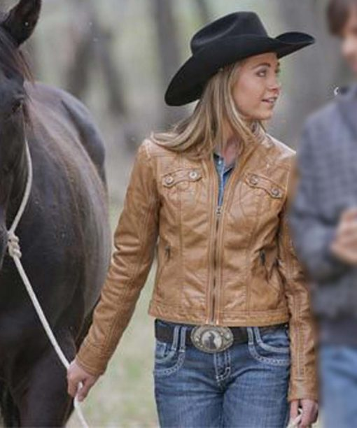 Amy Fleming Heartland Leather Jacket