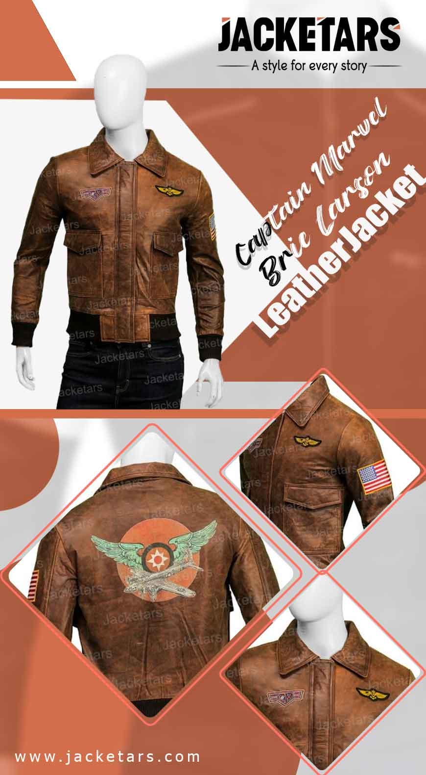 Captain Marvel Brie Larson Leather Jacket Info