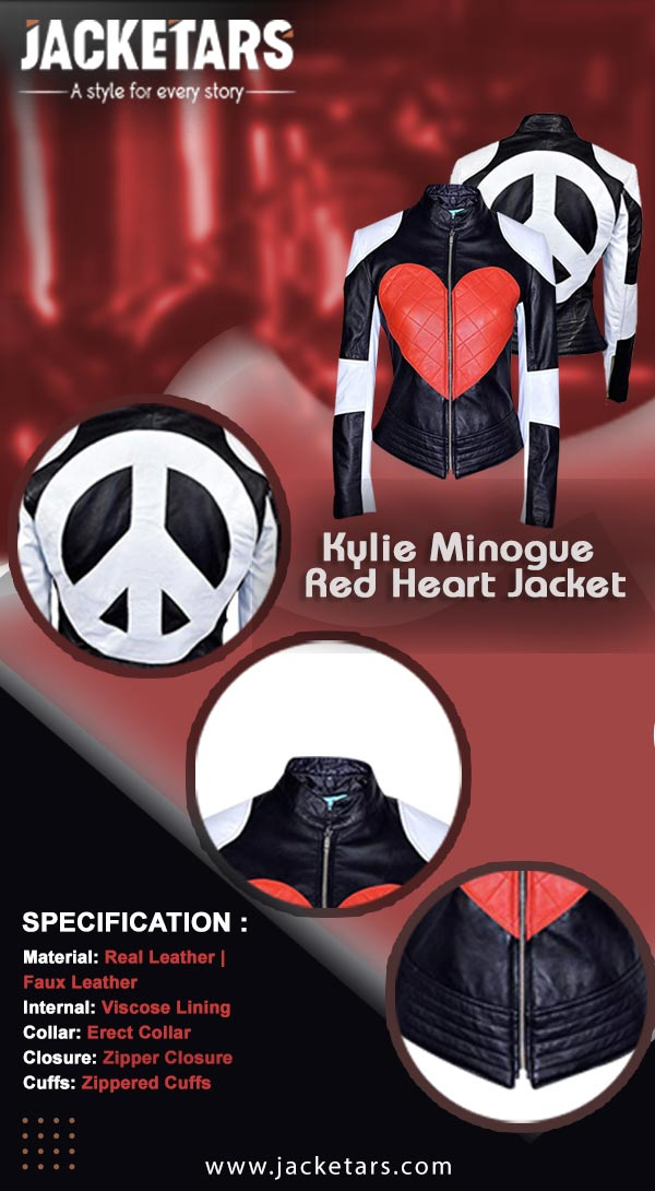 Kylie Minogue Red Heart Jacket Info