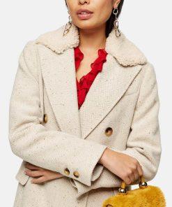 Love Life Sara Yang Herringbone Coat