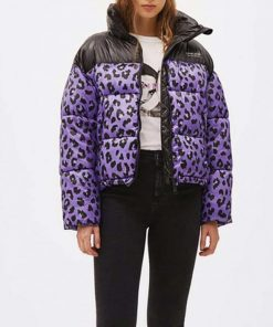 Love Life Sara Yang Leopard Puffer Jacket