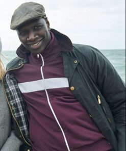 Lupin Assane Diop Maroon Bomber Jacket