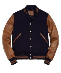 Mens Blue Varsity Jacket