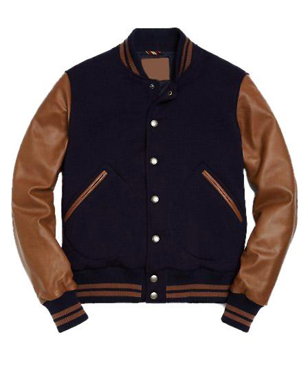 Mens Blue Varsity Jacket