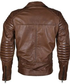 Mens Brown Classical Biker Leather Jacket