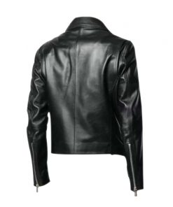 Mens Motorcycle Black Leather Jacket
