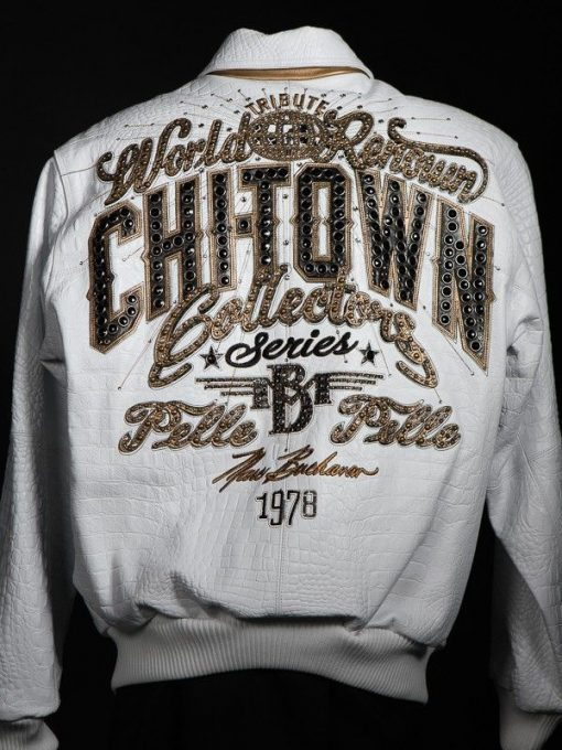 Pelle Pelle Chi-Town White Leather Jacket