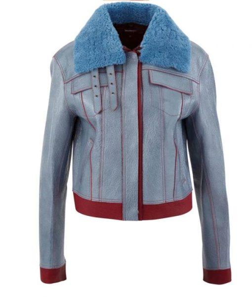 Sara Yang Love Life Leather Jacket