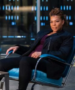 The Equalizer Queen Latifah Black Cotton Jacket