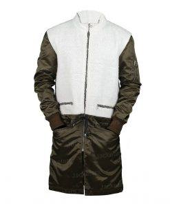 The Equalizer Robyn McCall Green & White Shearling Coat.jpg