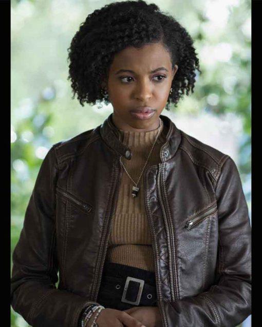 13 Reason Why Ani Achola Leather Jacket