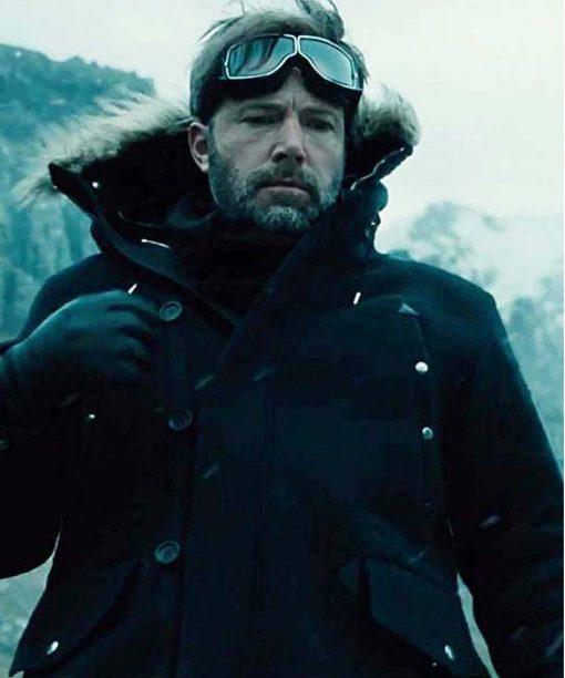 Bruce Wayne Justice League Fur Jacket