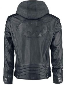 Dark Knight Batman Leather Hoodie Jacket