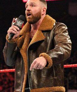 Dean Ambrose WWE Wrestler Leather Shearling Jacket