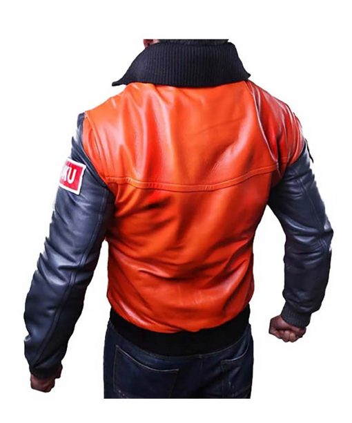 Dragon Ball Z Goku 59 Orange Leather jacket