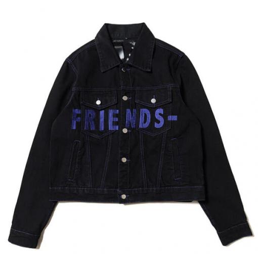 Friends VLONE Blue Denim Jacket