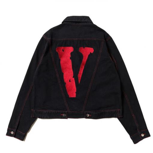 Friends VLONE Red Denim Jacket