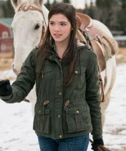 Heartland Alisha Newton Green Jacket