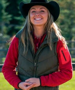 Heartland Amy Fleming Green Vest
