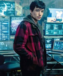 Justice League Barry Allen Plaid Jacket